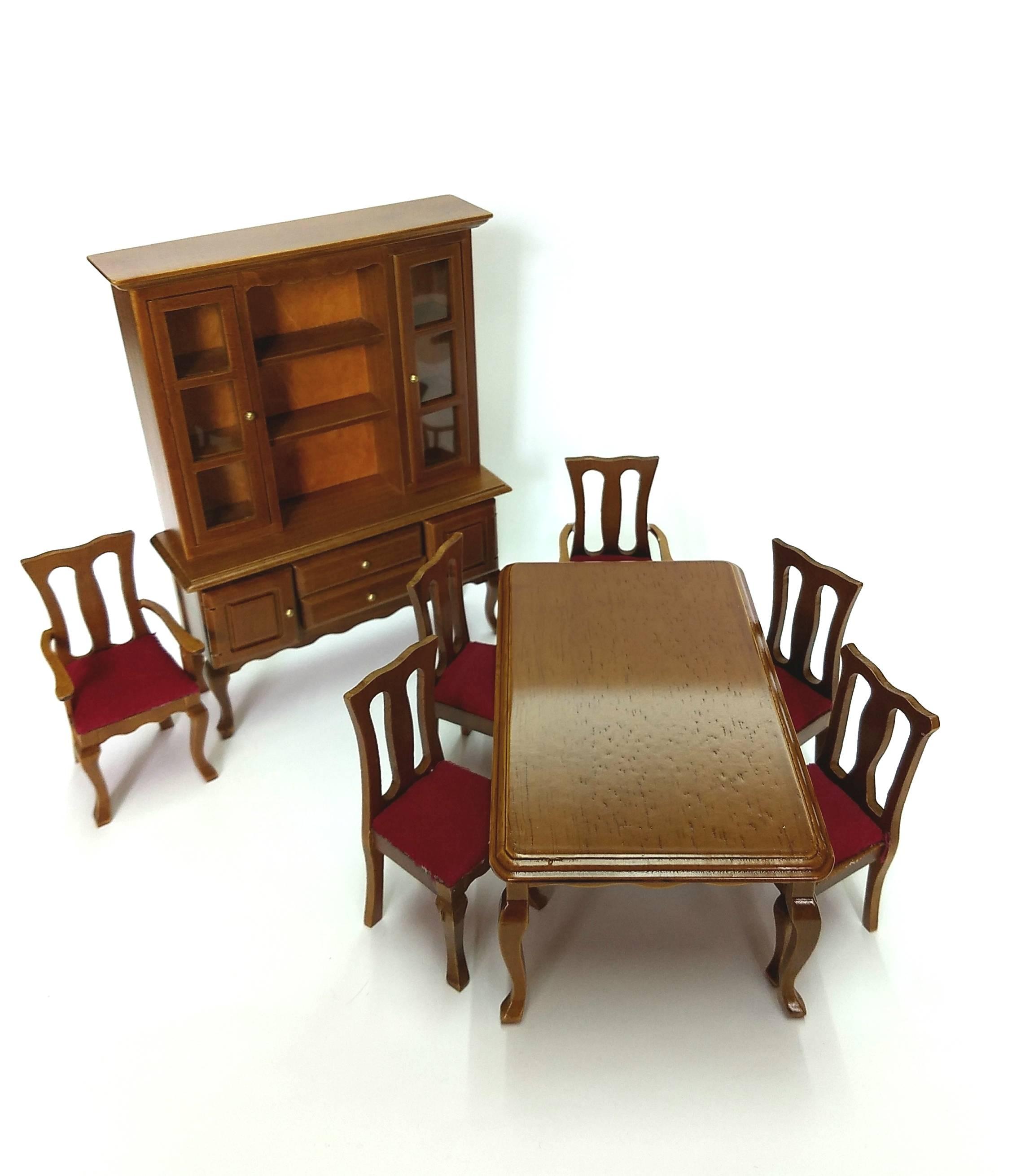 Juego de muebles de comedor | Miniaturas Saribel